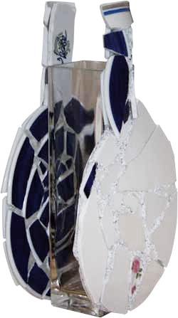 Vase - Tischtenniskellen aus Scherben